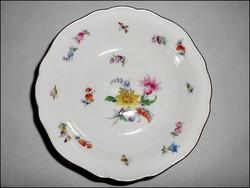 Eredeti kardos jelzésű színes Meissen porcelán tálka