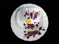 Gyönyörű ibolyás reggeliző készlet (1)