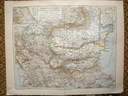 7 db. Meyers lexikon 1890  térkép -e. Papír , földrajz , történelem , militária is kicsit