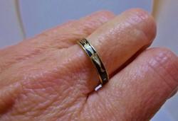 Szép régi zománcos,mintás gyűrű