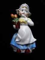 Antik német Lencsi tulipános lány
