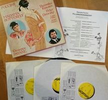 Puccini: Pillangó kisasszony bakelit lemezen