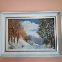 Csonka János /1947- 2008/: A Tél című festménye