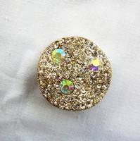 Retró csillogó kövekkel borított csúszó medál