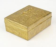 0P576 Antik japán ékszeres dobozka