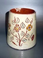 Svéd vintage virágtartó kaspó kézi festésű
