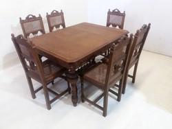 Antik étkező(asztal+6 szék)