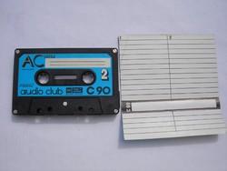 Audio Club C-90 normál retro kazetta,használt
