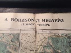 Börzsönyi Hegység télisport térképe 1930 !!!!!!