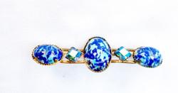 Antik kék köves bross