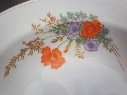 Pipacsos hollóházi mély tányér
