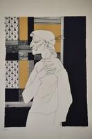 Szász Endre (1926-2003); Faludy György: Francois Villon balladái, 8db nagyméretű szitanyomat