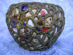 Antik Zsolnay porcelán darabok és pirogránitból készült kaspó Eva Zeisel