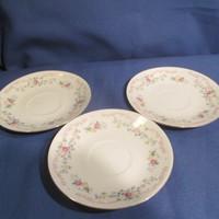 3 db Porcelán apró rózsás alátét tányér A075