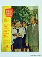 1961 október -  /  DDR IN WORT UND BILD  /  RÉGI EREDETI KÜLFÖLDI ÚJSÁG Szs.:  3903