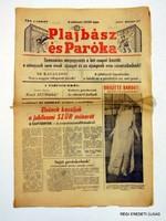 1967 május 21  /  PLAJBÁSZ ÉS PARÓKA  /  RÉGI EREDETI MAGYAR ÚJSÁG Szs.:  3905