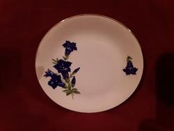 1890 Gyönyörű virág mintás süteményes tányér jelzés nélkül