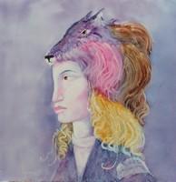 Szász Endre stílusban- festmény NAGY 45x45cm
