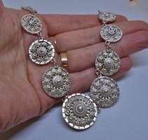Csodálatos antik filigrán ezüst nyakék 35,5g