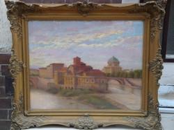 Bartus Ödön: Róma látképe (1931)