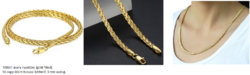 Töltött arany nyaklánc és karkötő szett (gold filled)