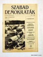 1989 - -  /  SZABAD DEMOKRATÁK  /  RÉGI EREDETI MAGYAR ÚJSÁG Szs.:  3939