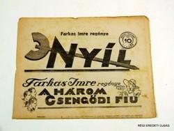 1931 szeptember 3  /  NYÍL  /  RÉGI EREDETI MAGYAR ÚJSÁG Szs.:  3942