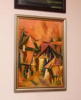 Fegyó Béla: Öreg Ráckeve című festmény