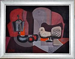 TÓTH László (1926- ) festmény, 77 x 97 cm, o.v., jbl. Tóth