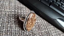Ezüst gyűrű bronzit kővel!