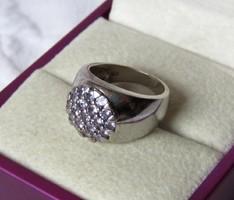 Nagyon mutatós ezüst gyűrű, ametisztlila cirókiával