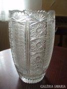 Nagy csiszolt ólomkristály váza