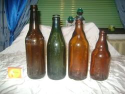 Négy darab retro sörös üveg