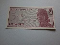 1964-es 5 Sen UNC