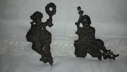 Antik 1800-as évekből ón óradíszek vagy bútor díszek párban!