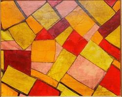 Négyszögek modern festmény