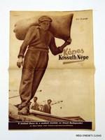 1945 június 10  /  KÉPES KOSSUTH NÉPE  /  RÉGI EREDETI MAGYAR ÚJSÁG Szs.:  3856