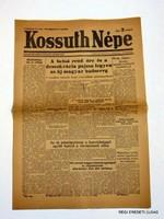 1945 augusztus 25  /  KOSSUTH NÉPE  /  RÉGI EREDETI MAGYAR ÚJSÁG Szs.:  3919