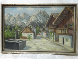 K. Scmmidt/Bajor festő: Utcakép.