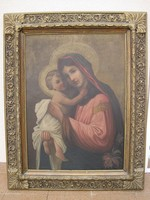 Nagy méretű régi szent olaj festmény