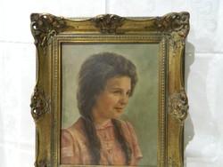 Lány portré Német nevesitett festőmühelyből.