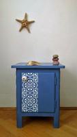 Greek blue - ajtós kis komód, éjjeliszekrény, éjjeli szekrény