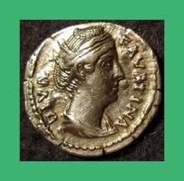 Római Faustina I  100-140  Antoninus Pius császár felesége  Ag ezüst dénár