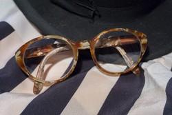 Retro KENGO gyöngyházfényes kagylóhéj szemüveg