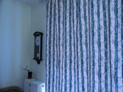 Vászon régies hatású függöny húzott 160 széles 180 hosszú