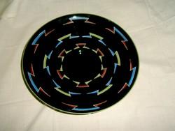 Üveg kézzel festett- kínáló tál 25,5 cm