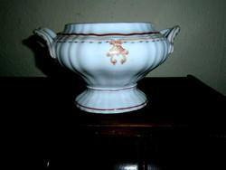 Antik porcelán kézzel festett kínáló