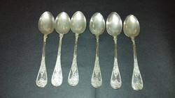 Ezüst 6 darabos mokkáskanál készlet