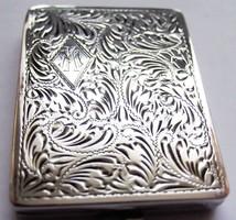 Antik ezüst puder tartó