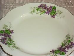 Csodaszép gyöngy virágos ibolyás tányér  lapos